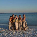 gray bridesmaids dress