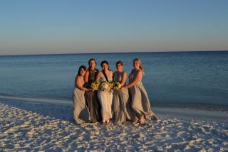 gray bridesmaids dress